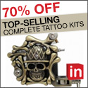 Light In The Box 70% off on top selling tattoo kit