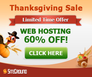 SiteGround Thanks Giving Sale