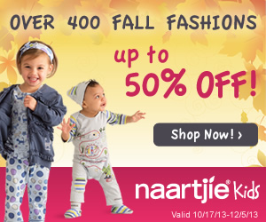 Save up to 50% off trendy fall styles at Naartjiekids.com! Over 400 styles to choose from! Ends 12/5