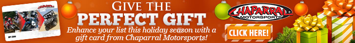 Enhance your list this Holiday Season with a Gift Card from Chaparral Motorsports! The perfect gift