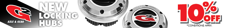 Get 10 percent off and free shipping on a set of G/2 GM 10 Bolt Extreme Hubs