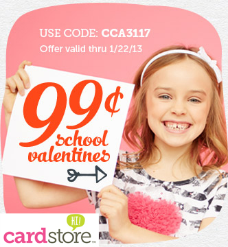 Cards for Every Classmate…At a Sweetheart Deal! 99¢ School Valentines at Cardstore!