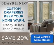 20% Off - 3DayBlinds.com (Winter/Spring)