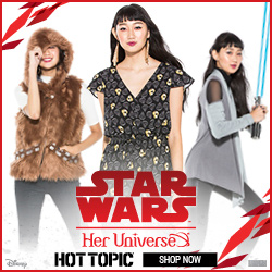 Shop the Limited Edition Star Wars: The Last Jedi By Her Universe Fashion Collection Now at HotTopic