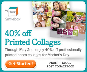 Get 40% off a printed collage for Mom.