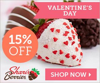15% off Valentine's Day Strawberries & Sweet Treats (min $29) - 336 x 280