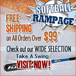 Free Shipping at Softball Rampage