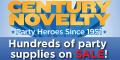 Century Novelty - Hundreds of Items Now on Sale!