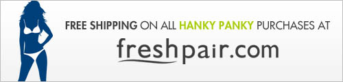 Free shipping on all Hanky Panky purchases