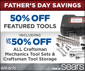 50% off Tool Sale with In-Store Pickup for Father´s Day!