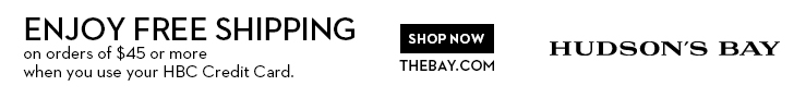 The Hudson Bay Company online free shipping offer