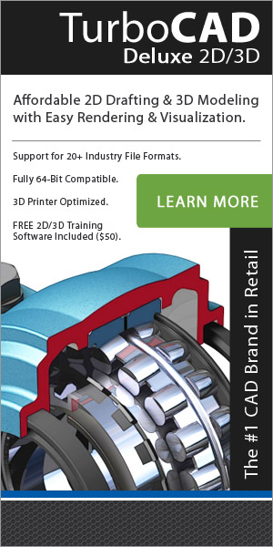 TurboCAD Deluxe - powerful and affordable 2D/3D CAD!
