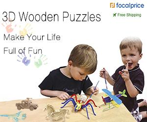 New arrivals for 3D DIY Wooden Puzzles