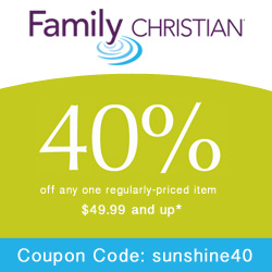 40% Off one item $49.99 and up with coupon code sunshine40