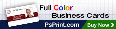Full Color Business Cards from PsPrint