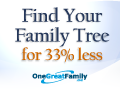 Find Your Family Tree for 33% Less