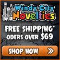 Free Shipping w $69 spend at Windy City Novelties