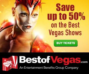 Économisez jusqu'à 50% sur les meilleurs spectacles de Vegas!