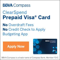 BBVA Compass Bank ClearSpend Prepaid Card