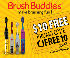 $10 Free at brushbuddies.com