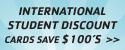 International Student Discounts - Save $100s
