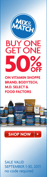 Buy One, Get One 50% off Vitamin Shoppe Brand