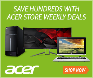 Acer offers a large selection of products, with discounts every week.  View current offers now.