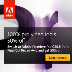 50% off Adobe CS5.5 Production Premium