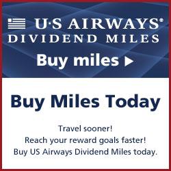 Buy US Airways Dividend Miles Today