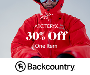 30% Off One Arc'teryx Item With Code: ARC30 at Backcountry.com