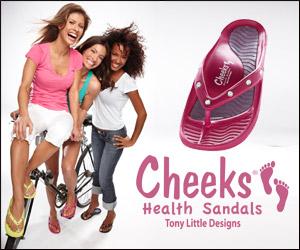 Tony Little's Cheeks™ Health Sandals with Rhinesto