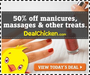 50% off manicures, massages & other treats.