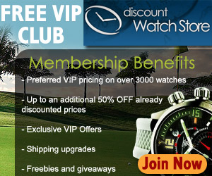 Free VIP Club at DiscountWatchStore.com