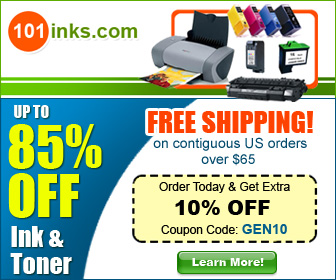 Up to 85% off Ink and Toner, Plus save 10% with code GEN10