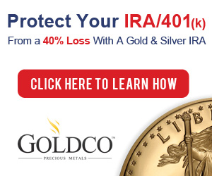 Protect Your IRA/401(k) from a 40% Loss with A Gold & Silver IRA