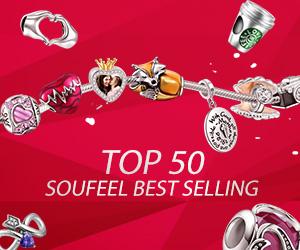 TOP 50 Soufeel Best Selling Custom Charm Bracelets