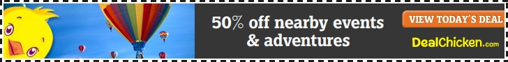50% off nearby events & adventures.
