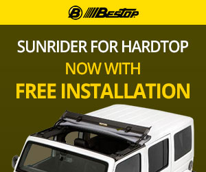 Get your Jeep hardtop installed for free at 4 Wheel Parts for FREE