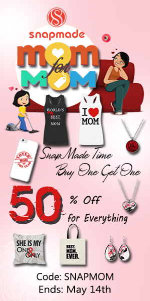 Snapmade 2017 Mother's Day: 50% Off for Everything-300*600