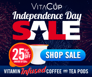 Get 25% off Orders $30+ during the VitaCup Independence Day Sale!