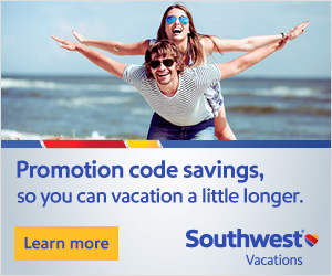 Exclusive Southwest Vacation Promotion Codes Page - ONGOING!