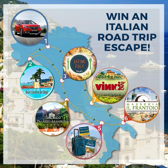 Enter to win a 7 Night Italian Road Trip Escape, valued at over $3,200!