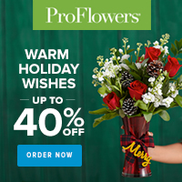 Up to 40% off Holiday Flowers & Gifts at ProFlowers 200x200
