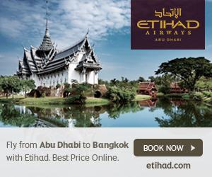 Etihad Airways Abu Dhabi fly to Bangkok Hong Kong Mauritius Toronto LA Dallas Scotland Thailand Boston…