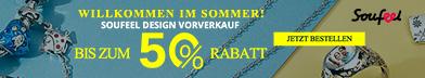 Willkommen im Sommer - August Vorverkauf endet am 15. August bei Soufeel.de
