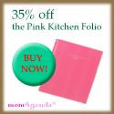 35% off the Pink Kitchen Folio until 3/31!