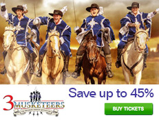 3 Musketeers Dinner Show - Save 45%!