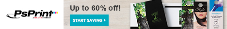 Save up to 60% off at PsPrint.com!