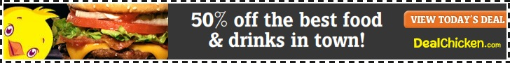 50% off the best food & drinks in town!