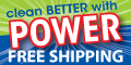 Clean Faster & Better with POWER! Free shipping!